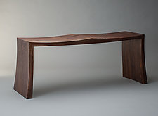 Walnut Bench by Alan Powell (Wood Bench)
