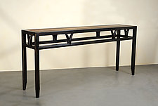Wishbone Console by Alan Powell (Wood Console Table)