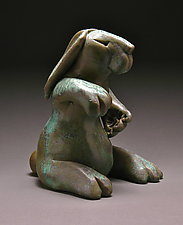 Fist Bump Bunny by Steve Murphy (Ceramic Sculpture)
