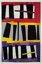 Black Shapes 2 by Karen Schulz (Fiber Wall Art)