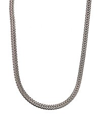 Series 17 - 1.5 mm Platinum Foxtail Chain by Catherine Iskiw (Platinum Necklace)