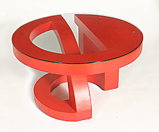 Red Coffee Table by John Wilbar (Wood Coffee Table)