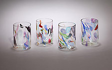 Cane and Murrini Tumblers by Gina Lunn (Art Glass Tumblers)
