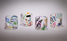 Cane & Murrine Rocks Glass by Michael  Hermann and Gina Lunn (Art Glass Tumblers)