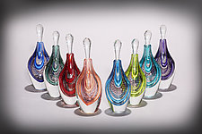 Scent Bottle by Michael  Hermann and Gina Lunn (Art Glass Perfume Bottle)