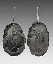 Large Potato Chip by John Siever (Silver Earrings)