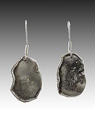 Small Potato Chip by John Siever (Silver Earrings)