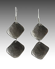 Small Double Diamonds by John Siever (Silver Earrings)