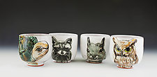 Backyard Animals Cup Set by Eileen de Rosas (Ceramic Mugs)