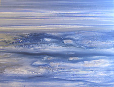 Blue and Silver by Maureen Kerstein (Watercolor Painting)