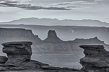 Gunbarrel - Dead Horse Point State Park, UT by J.L. Rodman (Black & White Photograph)