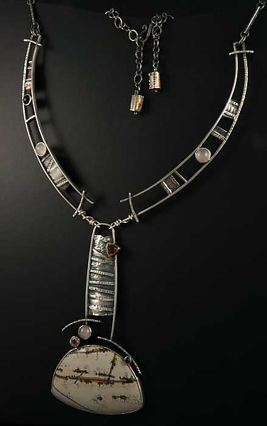 Desert Light Silver and Gemstone Neckpiece