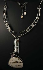 Desert Light Silver and Gemstone Neckpiece by Jan Van Diver (Silver & Stone Necklace)