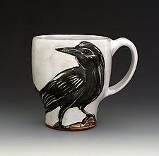 Crow Mug by Eileen de Rosas (Ceramic Mug)