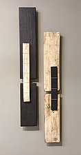 Two Bars by Lori Katz (Ceramic Wall Sculpture)