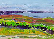 Island Harbor II by Leonard Moskowitz (Acrylic Painting)