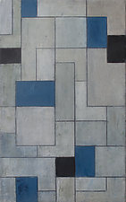 Gray Matters - Black and Blue by Stephen Cimini (Oil Painting)