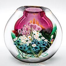 Landscape Series Vase Ruby by Shawn Messenger (Art Glass Vase)