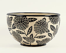 Gigantic Zinnia Bowl by Jennifer  Falter (Ceramic Bowl)
