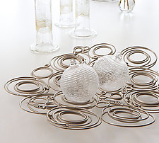 Abundance Centerpiece in Nickel by Susan Woods (Metal Tray)
