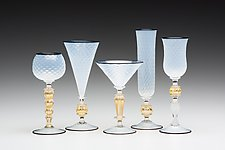 Opal Goblets by Kenny Pieper (Art Glass Goblet)
