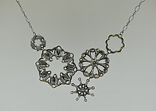 5 Sirens Cluster Necklace by Catherine Grisez (Silver Necklace)