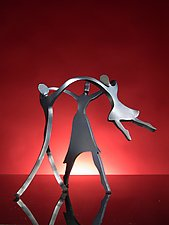 Dancing Family with a Girl by Boris Kramer (Metal Sculpture)