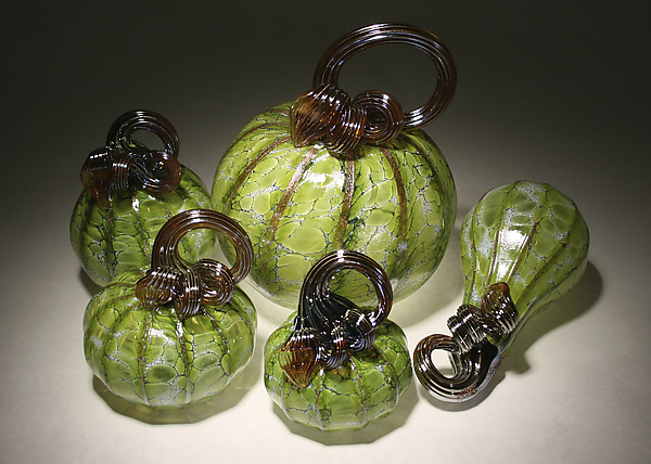 Leaf Green Pumpkin Set of 5
