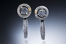Earrings with Slate Stone by Nina Mann (Gold, Silver & Stone Earrings)