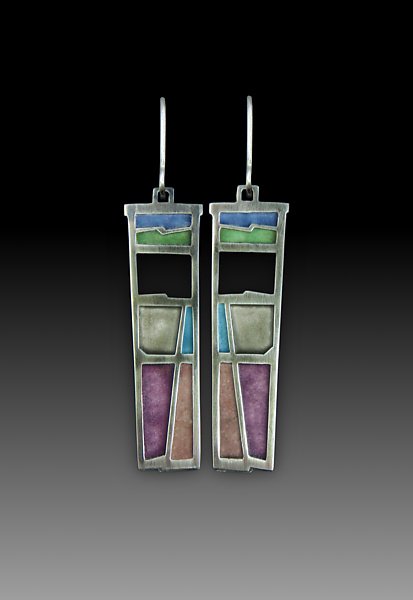 Long Window Earrings # 415