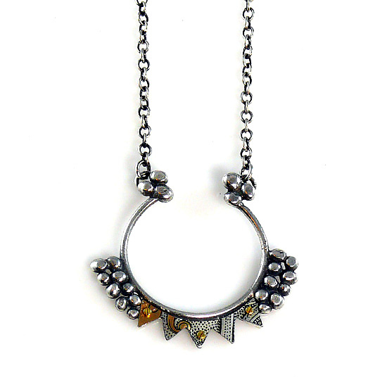 Aya Silver & Recycled Tin Necklace