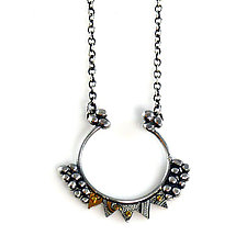 Aya Silver & Recycled Tin Necklace by Beth Taylor (Silver Necklace)