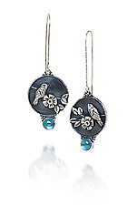 Blue Moon Earrings by Vickie  Hallmark (Silver & Stone Earrings)