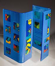 Blue City by Varda Avnisan (Art Glass Sculpture)