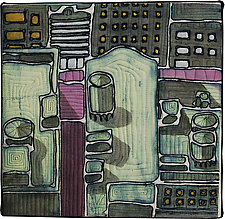MidTown Detail 1 by K. Velis Turan (Fiber Wall Art)