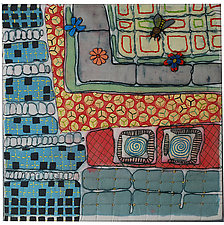 Windows Detail by K. Velis Turan (Fiber Wall Art)