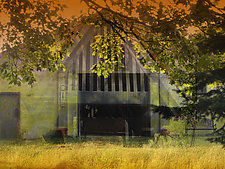Shadow Barn by Eugenie Torgerson (Mixed-Media Wall Art)