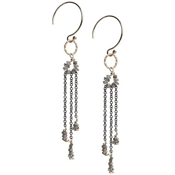 Sophie Gray Diamond Dangle Earrings