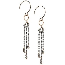 Sophie Gray Diamond Dangle Earrings by Tracy Arrington (Gold, Silver & Stone Earrings)