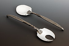 Salad Set by Nicole and Harry Hansen (Metal Serving Utensils)