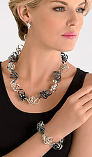 Mixed Texture Wire Necklace by Rina S. Young (Silver Necklace)