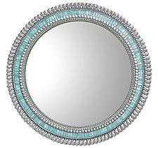 Seafoam Drop by Angie Heinrich (Mosaic Mirror)