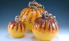 Sunrise Pumpkins by Mark Rosenbaum (Art Glass Sculpture)