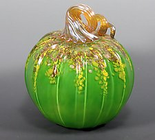 Harvest Pumpkin by Mark Rosenbaum (Art Glass Sculpture)