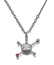 Sputnik Pendant by Janine DeCresenzo (Silver & Stone Necklace)
