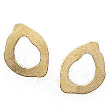 Tiny Rough Cut Post Earrings by Lisa Crowder (Gold Earrings)