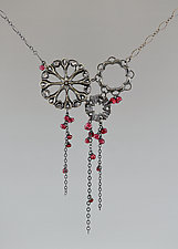 Siren Necklace with Gemstones by Catherine Grisez (Silver & Stone Necklace)