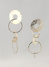 Flamenco Earrings by Edith Schneider (Silver Earrings)