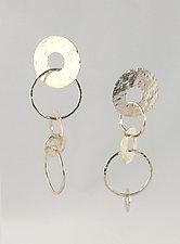 Flamenco Earrings by Edith Schneider (Silver Earrings)