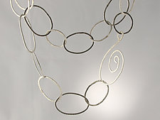 Bossa Nova Necklace by Edith Schneider (Silver Necklace)